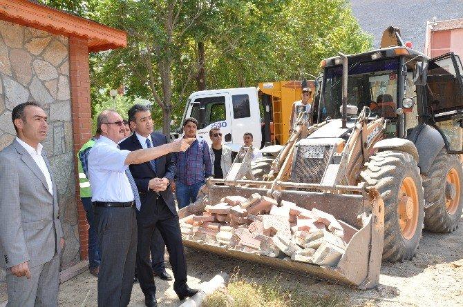 Vali Kocatepe, Elbistan'da İncelemelerde Bulundu