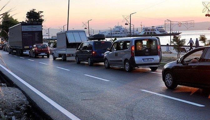 Tatilciler dönüş yolunda