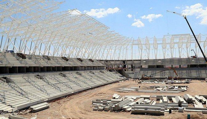 Türkiye'nin ilk ekolojik stadı yükseliyor