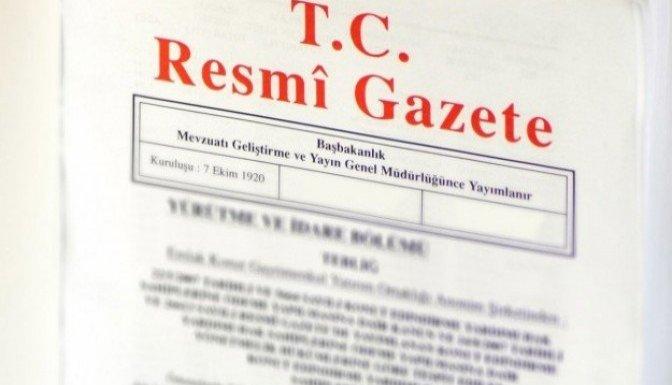Bakanlar Kurulu Resmi Gazete'de yayımlandı!