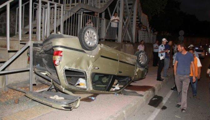 Üzerine otomobil düştü!