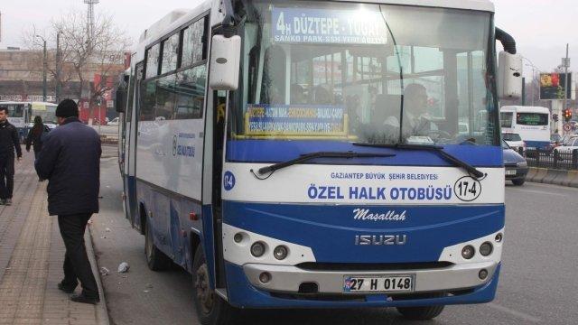 Gaziantep'te şoförler kontak kapattı
