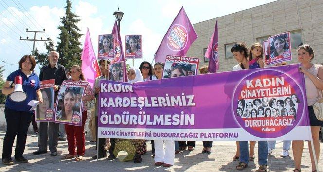Kadın cinayetlerini protesto ettiler!