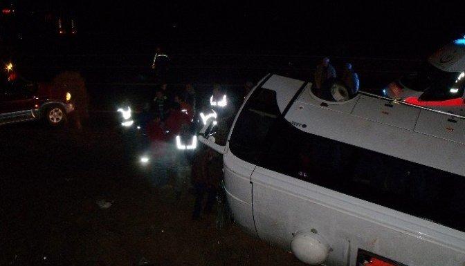 Kahramanmaraş'ta servis aracı devrildi: 23 yaralı