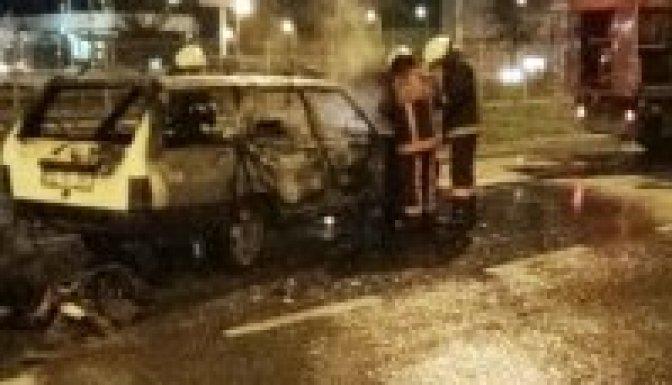 LPG'li otomobil alev topuna döndü!