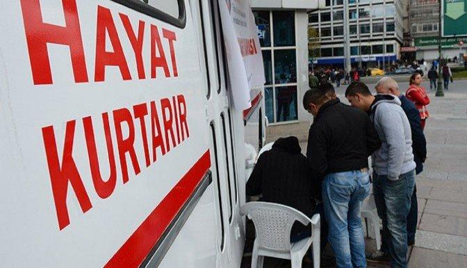 Göksun'da Türk Kızılayı'na 110 Ünite Kan Bağışı