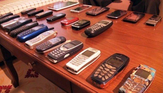 Bu da cep telefonu koleksiyonu