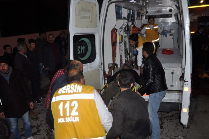 Mersin'de tamirhanede yangın: 1 yaralı