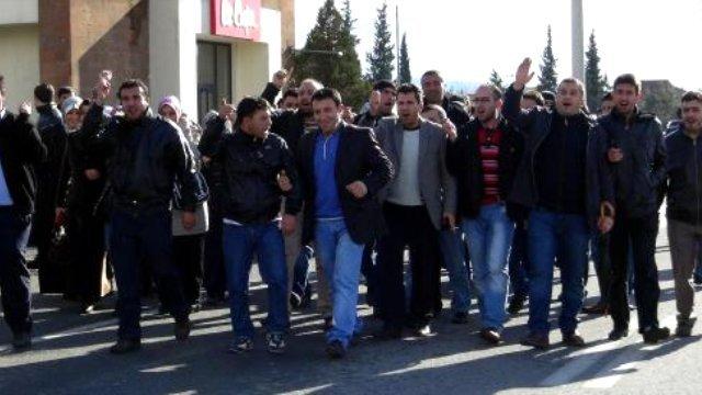 Kahramanmaraş'ta İşçiler Eylem Yaptı
