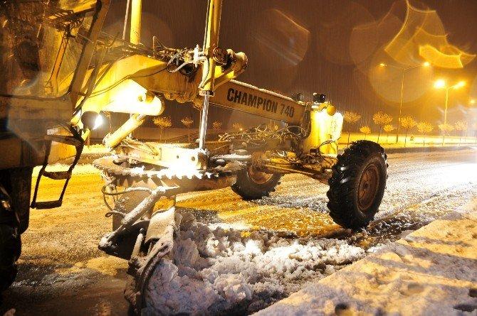 Kahramanmaraş-Kayseri yolu kar sebebiyle kapandı!