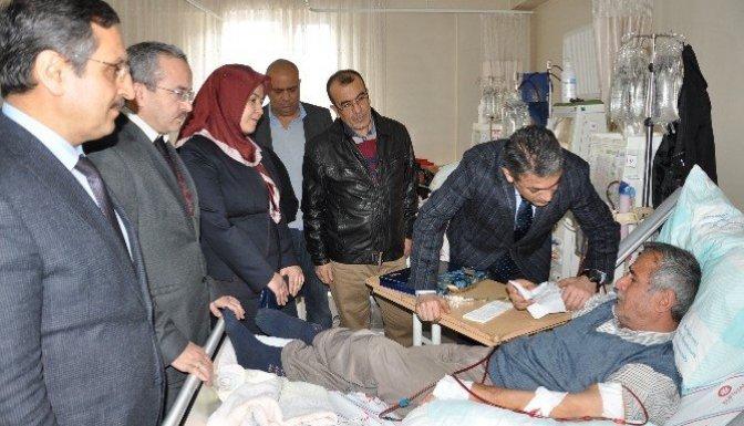 Kaymakam Akkoyun'dan Böbrek hastalarına anlamlı ziyaret
