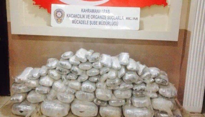Kahramanmaraş'ta 110 Kilogram esrar ele geçirildi