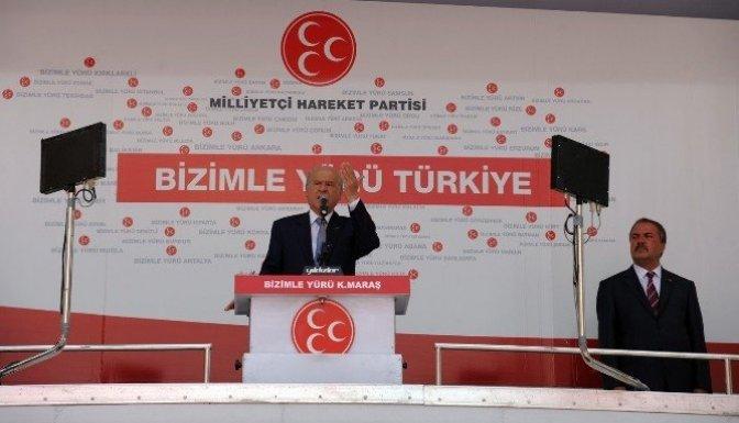 Bahçeli'den Cumhurbaşkanı Erdoğan'a Miting tepkisi