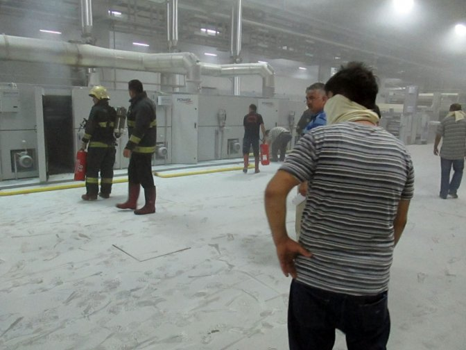 Fabrika Yangınına 4 Dakikada Müdahale