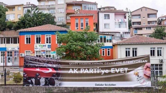 AKP'lilerden Skandal Pankart!