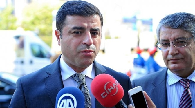 HDP lideri Demirtaş'tan flaş açıklama!