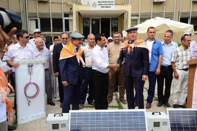 Belediye, köylüye elektrik üretim paneli dağıttı!