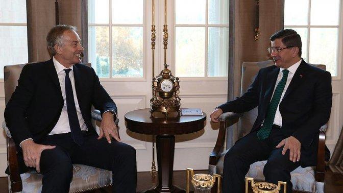 Davutoğlu eski Başbakan Blair'i kabul etti