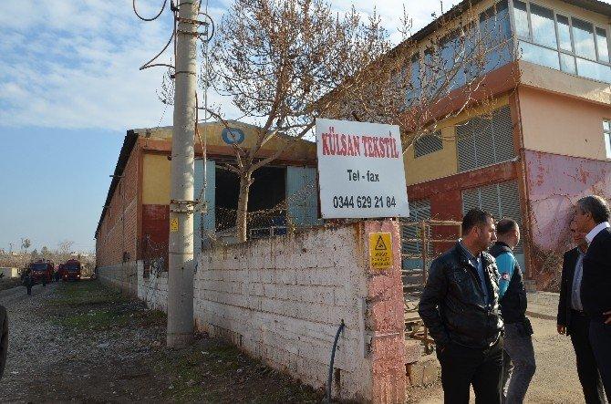 Türkoğlu'nda Tekstil Fabrikasında Yangın!