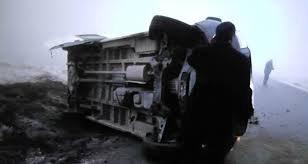 Minibüs devrildi: 1 ölü, 3 yaralı!