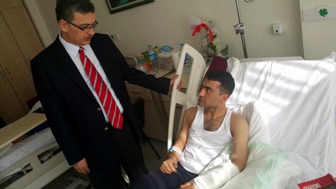 Milletvekili Güvenç, yaralı askerleri zyaret etti