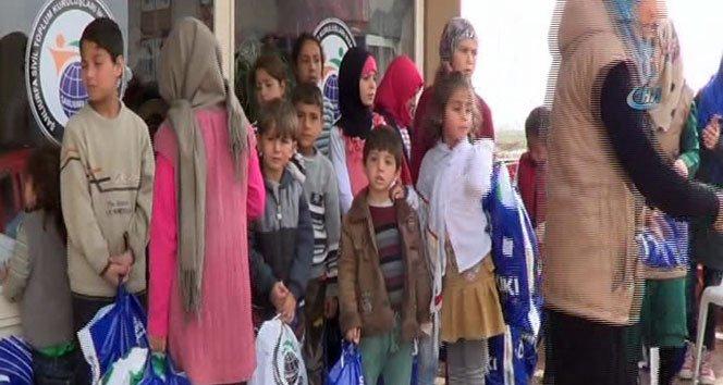 Çadır kentte yaşayan 142 yetime giyecek yardımı!