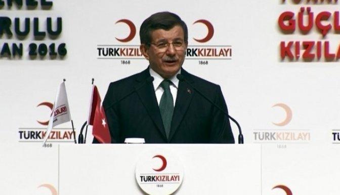Davutoğlu: 'Hilal varsa şefkat, kudret var'!