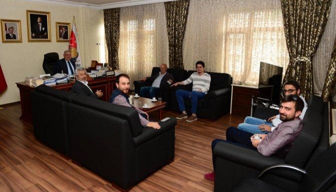 Başkan Mahçiçek, Mimarlar Odasını konuk etti