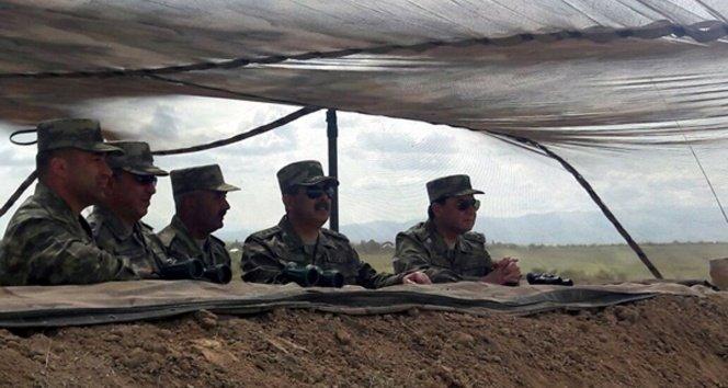 Azerbaycan ordusu tatbikat yaptı!
