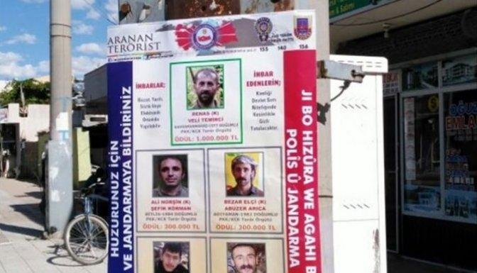İşte terör listesi, ihbar edene 1 milyon ödül!..