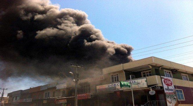 Haller Bölgesindeki yangın 5 iş yerini kül etti!