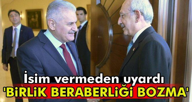 Başbakan uyardı: Birlik beraberliği bozma!!