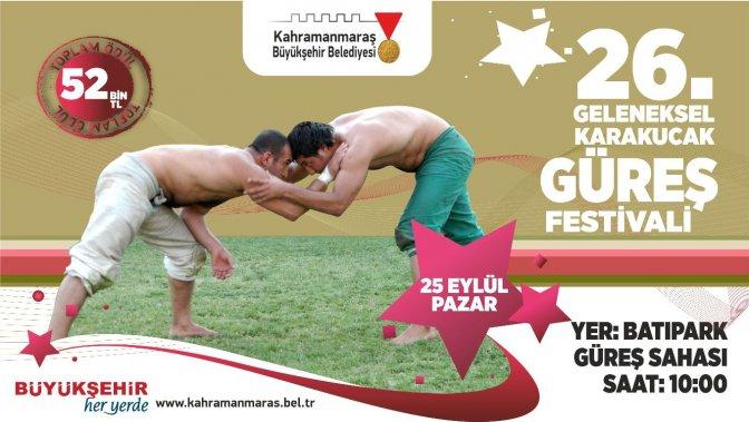 26. Karakucak Güreş Festivali 25 Eylül'de yapılacak!
