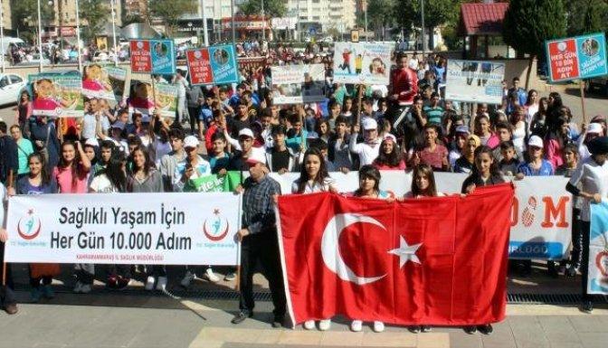 Kahramanmaraş'ta sağlıklı yaşam yürüyüşü