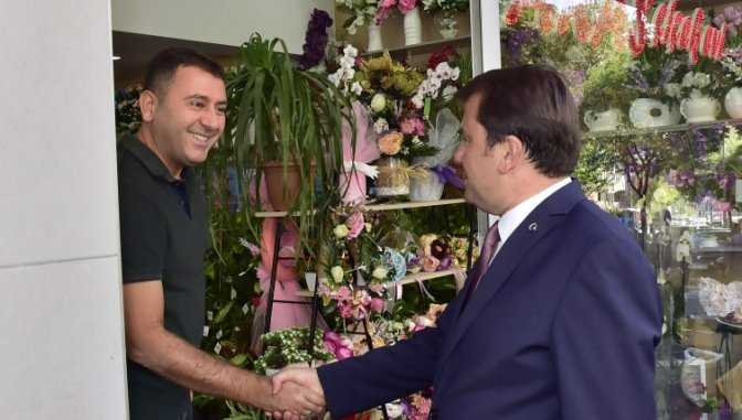 Başkan Erkoç'tan Esnaf Ziyaretleri