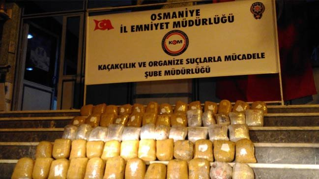 Osmaniye'de 80 kilo esrar ele geçirildi!