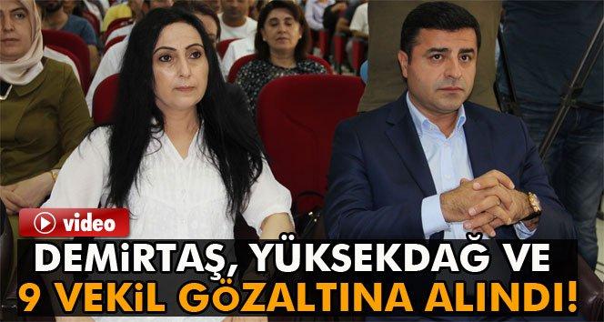 Demirtaş, Yüksekdağ ve 9 HDP'li vekil gözaltında!