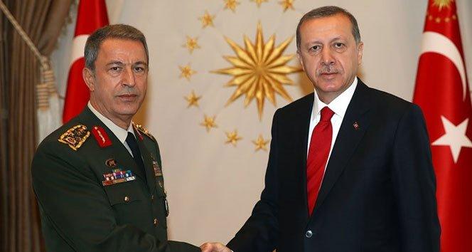 Erdoğan, Genelkurmay Başkanı Akar ile görüştü!