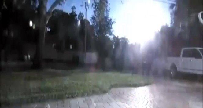 Meteorun düşme anı kamerada!