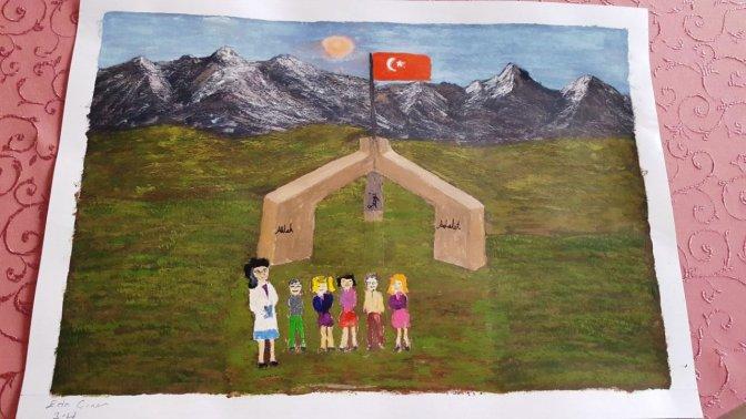 Öğretmenim Resim Yarışması Ödülü Yaşar Gölcü'nün