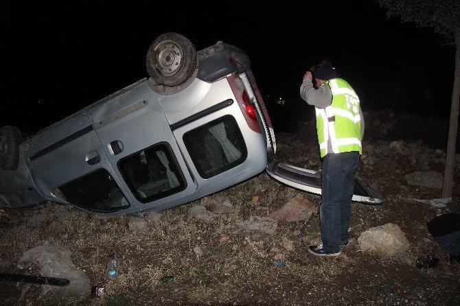 Ticari araç takla attı, 1 Kişi yaralandı