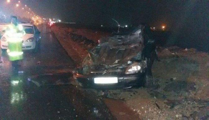 Kontrolden çıkan otomobil takla attı: 3 Yaralı!