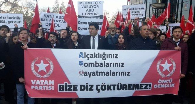ABD Büyükelçiliği önünde Kayseri saldırısı protesto edildi!