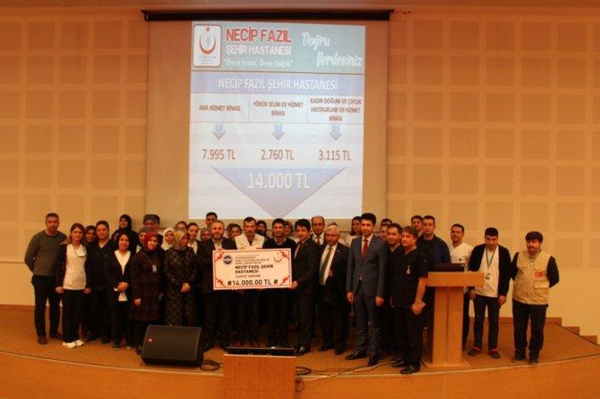 Hastane Çalışanlarından Cerablus'a 14 Bin TL Yardım!