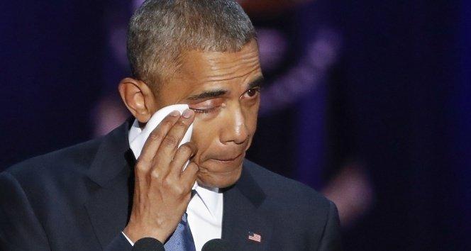 Obama'dan gözyaşları içinde veda konuşması!