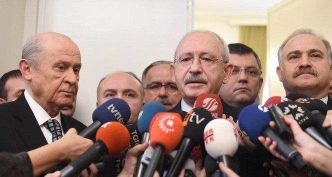 Kılıçdaroğlu-Bahçeli görüşmesi sonrası kısa açıklama!