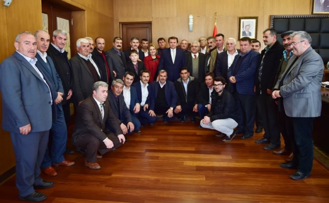 Muhtarlar Başkan Erkoç'u Ziyaret Etti