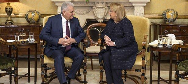 Başbakan Yıldırım, Malta'da Cumhurbaşkanı Preca ile görüştü!