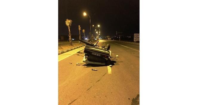 Otomobil takla attı: 5 yaralı!