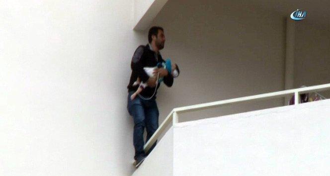 17 aylık bebeğiyle intihar girişiminde bulundu!